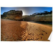 Light Over The Edge -  Loch Ard Gorge, Great Ocean Road, Victoria Australia - The HDR Experience Poster