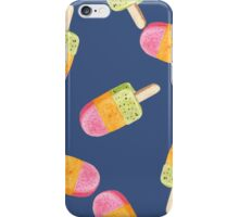 watercolor icecream popsicle seamless pattern iPhone Case/Skin