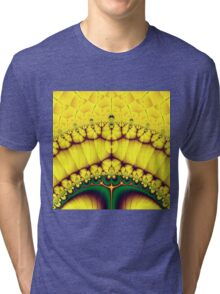 Buttercream Sunrise Over The Meadow Fractal Abstract Tri-blend T-Shirt