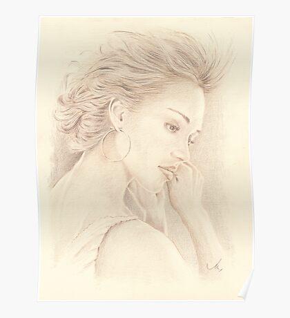 """Jessica"" Color Pencil Art Work Poster"
