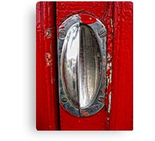 Handle on Telephone Box Canvas Print
