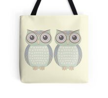 Owl Twins Tote Bag
