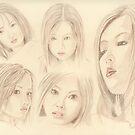 """Oriental Sketchbook ll"" Colour Pencil Art Work by John D Moulton"