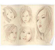 """Oriental Sketchbook ll"" Colour Pencil Art Work Poster"