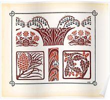 Maurice Verneuil Georges Auriol Alphonse Mucha Art Deco Nouveau Patterns Combinaisons Ornementalis 0006 Poster