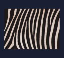 T Shirt Zebra Pattern One Piece - Long Sleeve