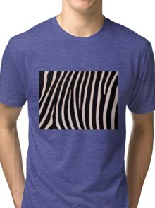 T Shirt Zebra Pattern Tri-blend T-Shirt