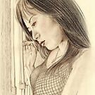 """Tina"" Colour Pencil Artwork by John D Moulton"
