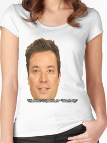 jimmy fallon Women's Fitted Scoop T-Shirt