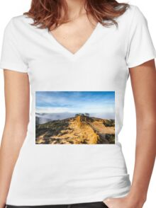 BROKEN HILL LANDSCAPE Women's Fitted V-Neck T-Shirt