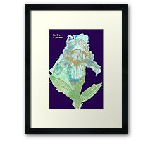Good News Iris Floriography Inkblot Framed Print