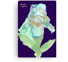 Good News Iris Floriography Inkblot Canvas Print