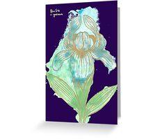 Good News Iris Floriography Inkblot Greeting Card