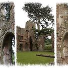 Acton Burnell Castle Triptych by Sheila Laurens