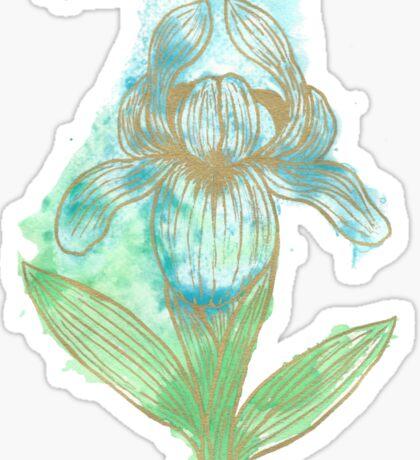 Good News Iris Floriography Inkblot Sticker