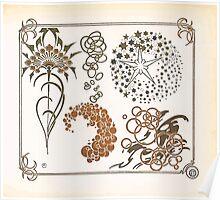 Maurice Verneuil Georges Auriol Alphonse Mucha Art Deco Nouveau Patterns Combinaisons Ornementalis 0041 Poster
