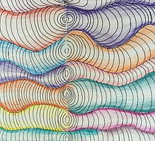 colored pencil freehand coils  by lande1975