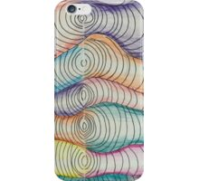 colored pencil freehand coils  iPhone Case/Skin