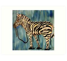 EDS Hope Zebra - Keeping It Together  Art Print