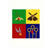Quidditch Positions Art Print