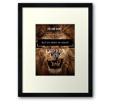 Fear Not An Army Of Lions Framed Print