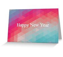 Retro Colorful Mosaic - New Year's Design Greeting Card
