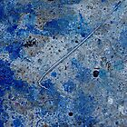 Metal in Abstract ~ Blue by Alixzandra