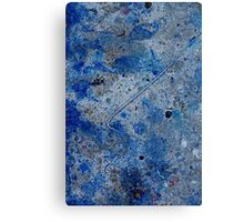 Metal in Abstract ~ Blue Canvas Print