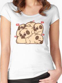 Puglie Grumblie Women's Fitted Scoop T-Shirt