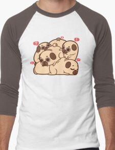 Puglie Grumblie Men's Baseball ¾ T-Shirt