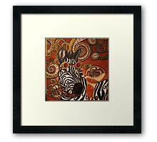 SteamPunk Zebra Framed Print