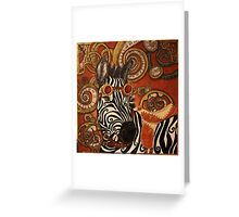 SteamPunk Zebra Greeting Card