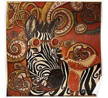 SteamPunk Zebra Poster