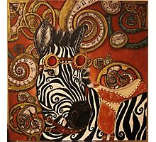 SteamPunk Zebra Photographic Print