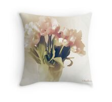 pale tulips Throw Pillow