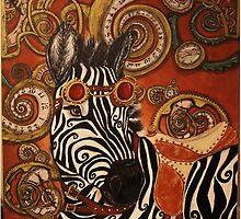SteamPunk Zebra by cherishedwhimsy