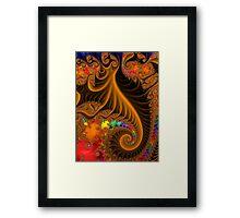 Butterscotch Fractal Delight Framed Print