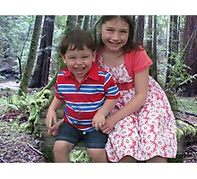 Posed In The Redwood Forest Photographic Print