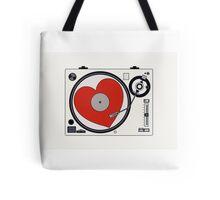 Retro Record Player Tote Bag