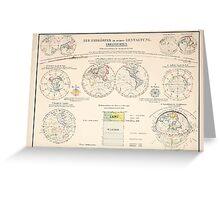 Atlas zu Alex V Humbolt's Cosmos 1851 0144 Der Erdkorper in seiner Gestaltung The Earth Globe Greeting Card