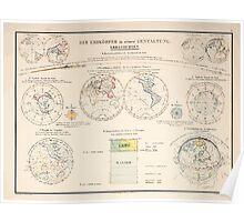 Atlas zu Alex V Humbolt's Cosmos 1851 0144 Der Erdkorper in seiner Gestaltung The Earth Globe Poster