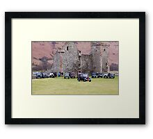 Cars By The Castle Framed Print
