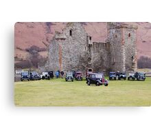 Cars By The Castle Canvas Print