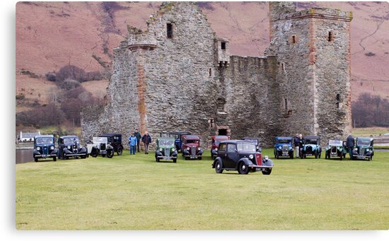 Cars By The Castle by Lynne Morris
