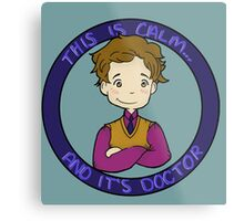 This is calm and it's doctor Metal Print