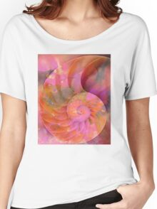 Colorful Nautilus Shell By Sharon Cummings Women's Relaxed Fit T-Shirt