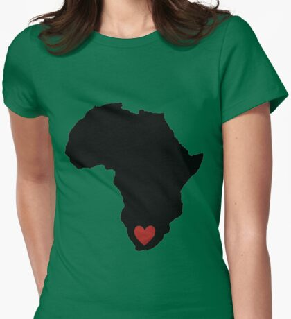 I love SA (big) Womens Fitted T-Shirt