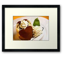 Chocolate in Love Framed Print