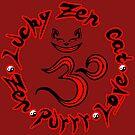 Lucky in Red by luckyzencat