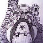 Grey Skull by brandonsart